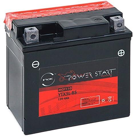 NX - Batterie moto YT5L-BS / YTX5L-BS 12V 4Ah - Batterie(s)