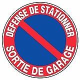 Novap - Panneau - Defense de stationner sortie de garage - Diamètre 300Mm Rigide