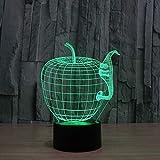 3D Lampe 3D Leuchte 3D Led Stimmungslicht 3D Lampe Nachtlicht Creative Acryl Ändern Hauptdekoration Kind Schlafzimmer Apfel Urlaub Geschenk Tier Dinosaurier Geschenk Nachttischlampe 3D Led-Licht