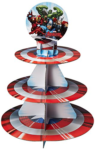 Wilton Marvel Avengers Treat Stand, Multicolor (Birthday Cupcake Party)