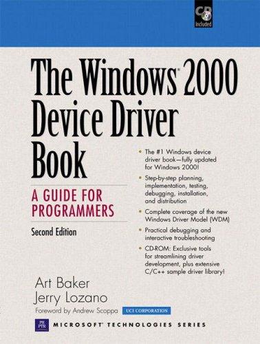 Windows 2000 Device Driver Book, w. CD-Rom