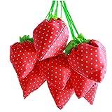 Yinew Erdbeere Einkaufstasche Faltende Einkaufstasche Lebensmittels Faltbar Tasche Wiederverwendbar für Outdoor