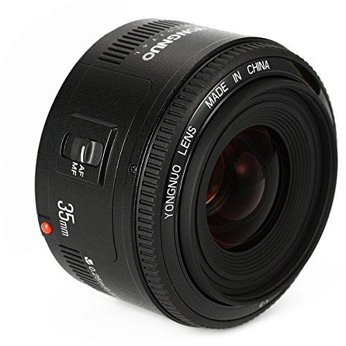 YONGNUO YN35 35mm F2 Objektiv 1: 2 AF/MF-Weitwinkel-Fest/Prime Autofokus-Objektiv für Canon EF Befestigung EOS Kamera + NAMVO Diffusor
