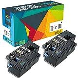 Do it Wiser Kompatibel Toner für Dell E525w | 593-BBLN Hohe Kapazität (2.000 Seiten) | 2 Pack Schwarz