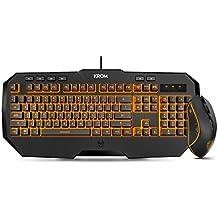 Krom Kodex Pro Gaming - Dual Kit con Teclado de Membrana y un ratón con hasta