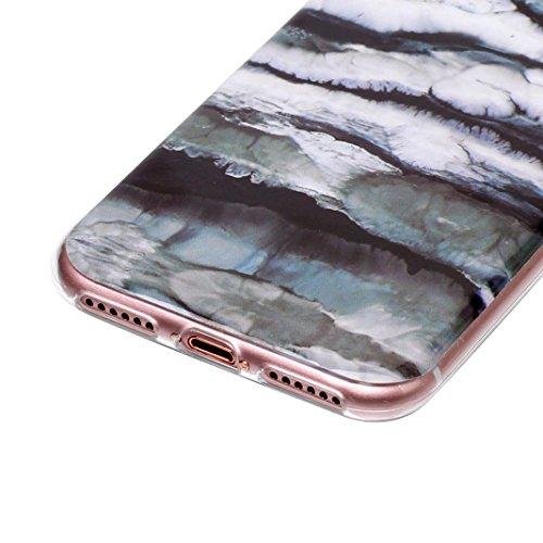 3 pcs Caso Soft per iPhone 7 / 8, Asnlove Morbida Elegante Custodia Ultra Sottile TPU Gomma Gel Cassa Motif di Colore Case Antiurto TPU Silicone Trasparente Cover Posteriore, Gruppo-4 Gruppo-4