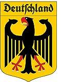 10x15 cm - Kontur - Auto Aufkleber Deutschland Adler mit Schriftzug Aufkleber Sticker fürs Motorrad Caravan LKW Trucck