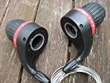 Gripshift Shifters (6 speed) Mountain Bike Twist Grips Gears + Inner Cables (Free UK Postage)