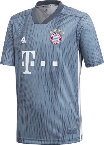 adidas Kinder 18/19 FC Bayern 3rd Trikot, raw Steel/Utility Blue/White, 128