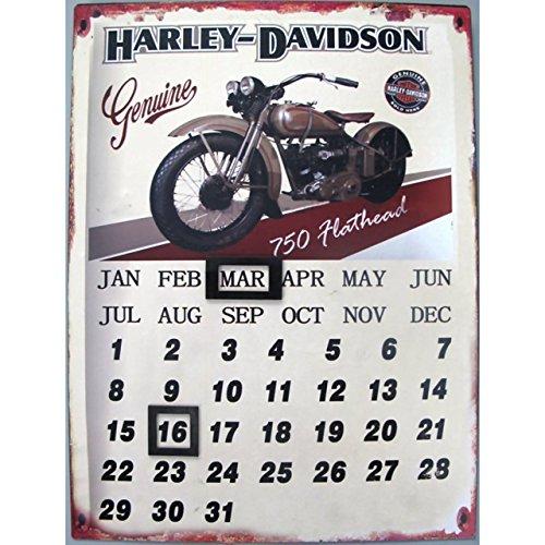 nostalgisches-blechschild-33x25cm-dauer-kalender-harley-davidson-flathead-metall