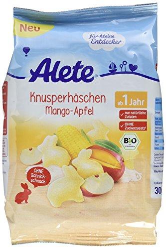 Alete Knusperhäschen Mango-Apfel, 8er Pack (8 x 30 g)