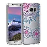 kwmobile Samsung Galaxy S7 Edge Hülle - Handyhülle für Samsung Galaxy S7 Edge - Handy Case in Pink Blau Transparent