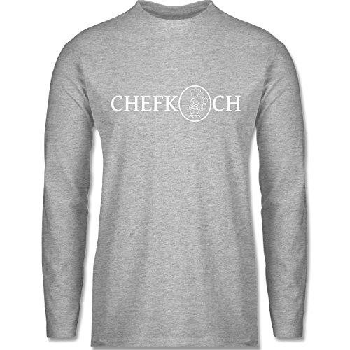 Shirtracer Küche - Chefkoch - Herren Langarmshirt Grau Meliert