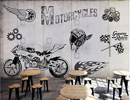 Carta Da Parati 3D Industria Motociclistica Personalizzata Metallo Grigio Muro Graffiti 3D Carta Da Parati Murales Auto Officina Ristorante Lounge Bar