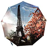 Popular Eiffelturm Auto Open & Close Faltbarer Regenschirm, Luxus winddicht Regenschirm 892