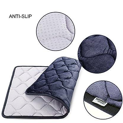 Hero Dog Dog Bed Extra Large Washable Crate Mattress 47 Inch, Soft Non Slip Pet Fleece Cushion Pad Blue XL 9