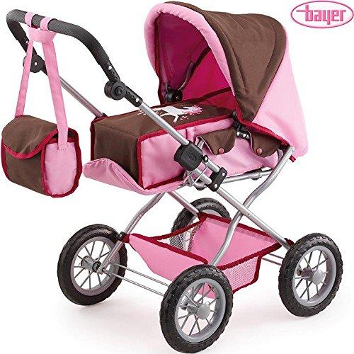 Kombi-Puppenwagen-Einhorn-herausnehmbare-Tragetasche-verstellbarer-Griff-Korb-Kinderpuppenwagen-Klappbar-Puppen-Kinderwagen-Spielzeug-fr-Baby-Born-etc