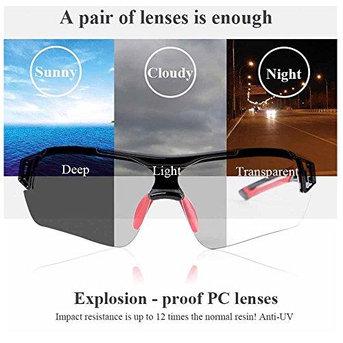 Fahrradbrille Uvex, Weant Polarisiert SportbrilleKlar Sonnenbrillen Männer Optische Sonnenbrille Für Herren und Damen Radsport Brille Für Reiten Fahren Angeln Laufen Sport-schutz Skibrille (Blau) - 6
