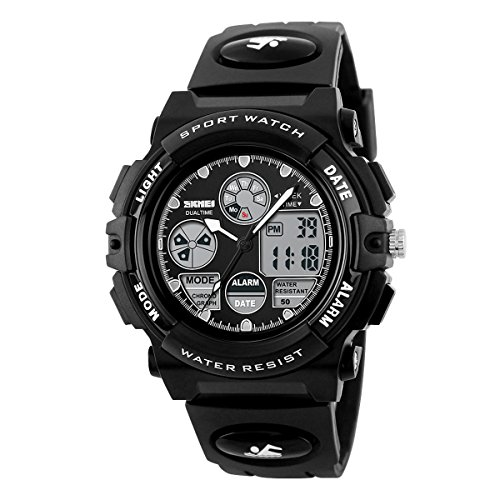 BesWLZ-Boys-Watches-Multifunction-Dual-Time-Digital-Watches-Alarm-Sports-Waterproof-Kids-Watches-Black