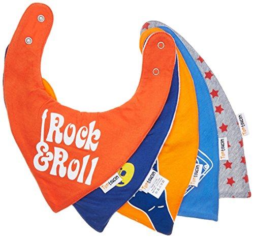 Tomtoucan baberos de bebe - Juego de 5 diseños Unisex (Little Rocker)