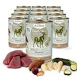 AniForte® PureNature Nassfutter 400g Wild Forest Hundefutter- Naturprodukt für Hunde (Frisches Wild, 12x400g)