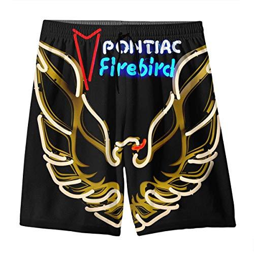 FAFANIQ Pontiac Trans Am Firebird Logo Summer Swim Trunks 3D Print Beach Board Shorts Elastic Waist for Teen Boys&Girls,M (Herren Am Trans)