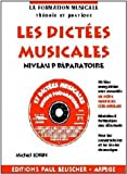 Partition : Dictees musicales avec CD, niveau preparatoire...