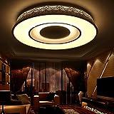 Sencilla habitación principal de la lámpara de techo LED circular nórdica estudio de la personalidad creativa atmosférica sala de estar de iluminación se enciende PS6247 (PS6247-R58-30 + 12W, sin escalonamientos de regulación) ( Tamaño : Blanco cálido )