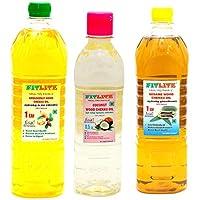 FITLITE Combo Groundnut Wood Chekku Oil 1 LTR + Coconut Wood Chekku Oil 0.5 LTR + Sesame Chekku Oil 1 LTR