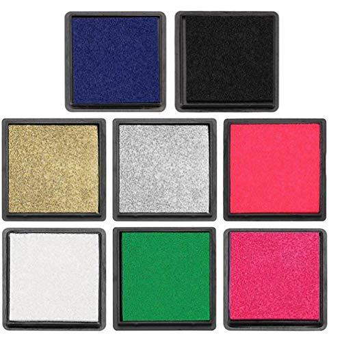 Oulensy 4X Bunte 4cm Ink Pad Stempel für Scrapbooking Inkpad Sealing Dekoration Fingerabdruck-Schablonen-Karte, die DIY Stamp Crafts