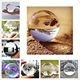 OCDAY Glaskugel klar Kristallkugeln handpoliert Ohne Lufteinschlüsse - Glaskugeln (100mm)