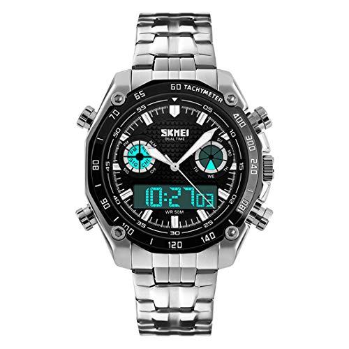 Herren Armbanduhren Geschäft Wasserdicht Sport Digitales Quarz Chronograph Uhr Mode Freizeit Männer Uhren