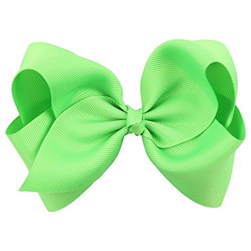 Haarnadel Bobby Pin Modischer Bonbon 10 Stück Boutique Grosgrain Ribbon Pinwheel Haar Bögen Krokodilklemmen Für Mädchen Babys Kleinkinder Teens Geschenke Luxuriöses Hübsches ( Farbe : Grün ) -