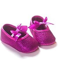 Etrack-Online - Zapatos de princesa para niñas, con purpurina, suela suave