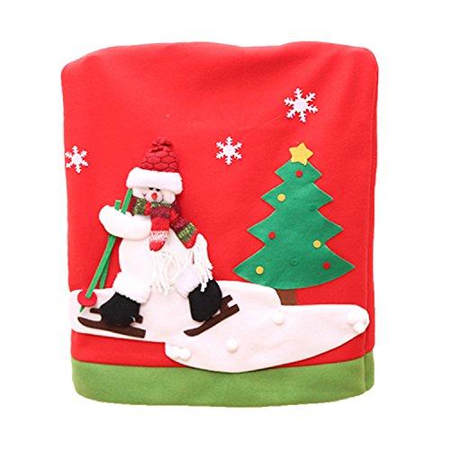 Dekor Stuhl Rückseitige Abdeckung Kostüm Deko Weihnachtsstuhl Stuhlhussen Xmas Party Tabellen Dekor - Schneemann (Definieren Kostüme)
