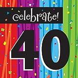 Creative Converting Servietten für feierliche Anlässe, 16Stück, Motiv Feiern 40