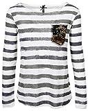 KEY Largo Damen Shirt Jessy Sand , Grösse:S;Farbe:offwhite
