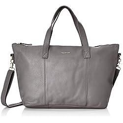Paquetage Maxi Cabas Cuir - Shopper para mujer, color grau (gris (anthracite 011)), talla talla única
