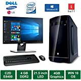 "Desktop PC - Intel Core 2 Duo E8400 - 3.0GHz Processor / 21.5"" LED Monitor / 4GB Graphics / 4GB Ram / 500GB HDD / Windows 10 Pro / Iball Cabinet / DVD / WiFi"