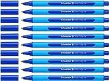 Schneider Slider Edge M Kugelschreiber (Dreikant-Stift mit Strichbreite M=Mittelstrich, Kappenmodell) 10er Packung cyan-blau