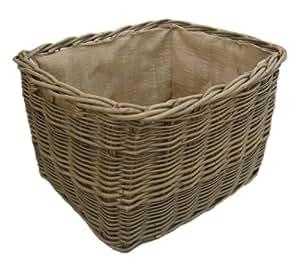 Green Ash/Wild Willow Rectangle Log Basket (Med)