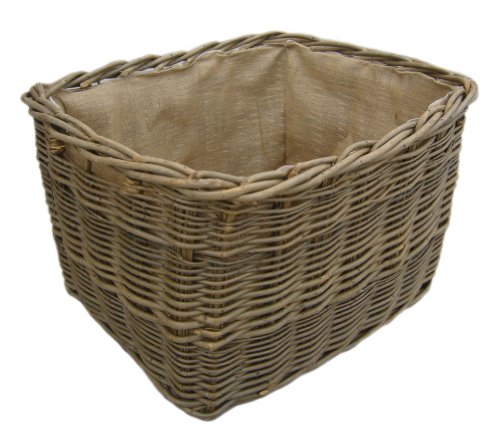 Green Ash/Wild Willow Rectangle Log Basket (Lge)