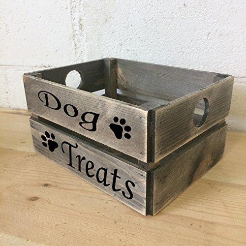 Hund behandelt rustikal grau Geschenk Box Geschenk-Box * * VERSANDKOSTENFREI * * Eiche Display-box
