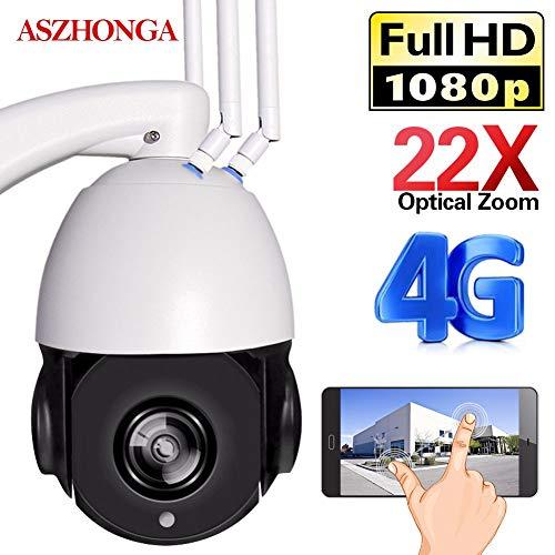 Telecamera di sicurezza CCTV IP 3G 4G 1080P WIFI IP PTZ Speed Dome IR wireless esterna Zoom ottico 22X Zoom Scheda SIM SD H.264 Audio