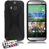 Ultraflache weiche Schutzhülle HTC ONE M8 [Le X Premium] [Schwarz] von MUZZANO + STIFT und MICROFASERTUCH MUZZANO® GRATIS - Das ULTIMATIVE, ELEGANTE UND LANGLEBIGE Schutz-Case für Ihr HTC ONE M8