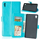 Nancen Compatible with Handyhülle Sony Xperia Z5 (5,2 Zoll) Lederhülle Neu Style Acht Farbe Weich...