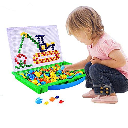 reative Pilz Nägel Puzzle Mosaik DIY Spielzeug Pegboard Puzzle Puzzle Spielzeug Puzzle Halloween Spielzeug 1 Satz ()