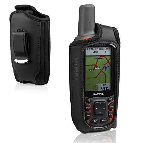TUSITA Hülle für Garmin GPSmap 62 62s 62st 62sc 62stc 64 64s 64st 64sc - Gürtelschnalle Leder Schutzhülle - Handheld GPS Navigator Zubehör - 62sc-gps Garmin Gpsmap