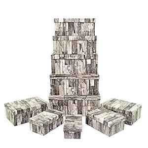 Gifts 4 All Occasions Limited SHATCHI-1296 Shatchi - Cajas de almacenamiento con tapa para decoración del hogar, regalos de Navidad, suministros para fiestas 11675, multicolor