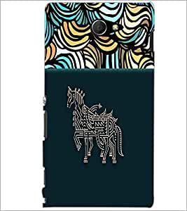PrintDhaba Artwork D-4709 Back Case Cover for SONY XPERIA M2 (Multi-Coloured)